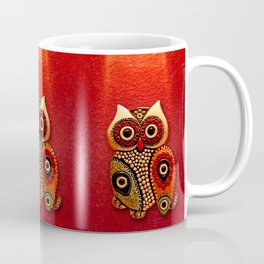 Retro Wood Owl Coffee Mug