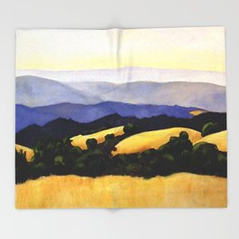 California Landscape Throw Blanket