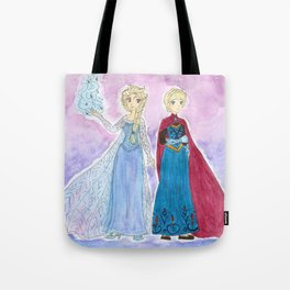 Elsa - Snow Queen and Coronation gowns Tote Bag