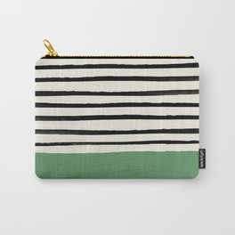 Moss Green x Stripes Carry-All Pouch