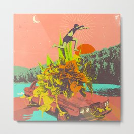 SUMMER VIBES Metal Print