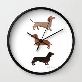 Dachshund Watercolor Wall Clock