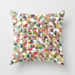 Chromatic Grid Throw Pillow