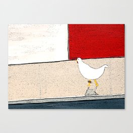 Donald crosses the road Canvas Print