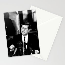 Kennedy Announces Mission To Moon Stationery Cards