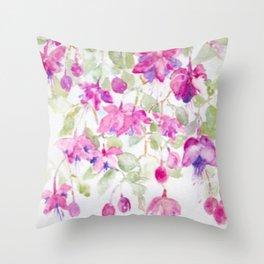 Summer Fuchsia Throw Pillow