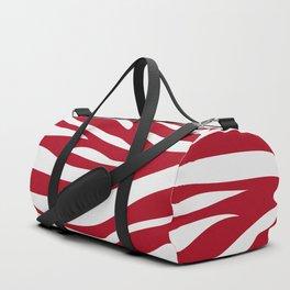 red + white zebra Duffle Bag