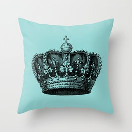 crown bue Throw Pillow
