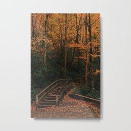 Staircase to Autumn Wonderland in the Smoky Mountains Metal Print