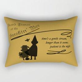 Hard Times at the Huskin' Bee Rectangular Pillow