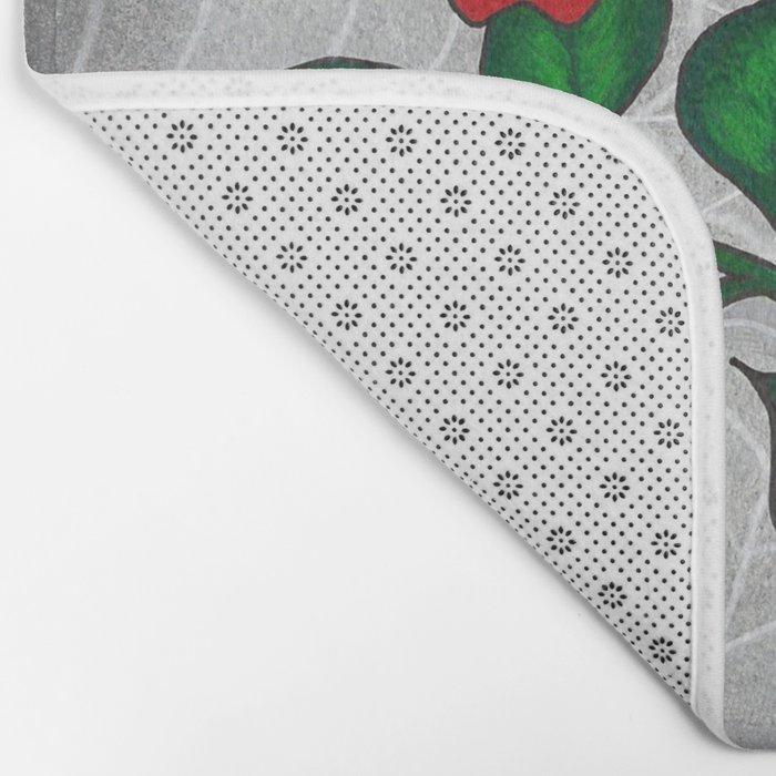 Caught -Eyeball Flower Bath Mat