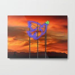 Peace Pigeon Stand - The Copy is a Hommage Metal Print