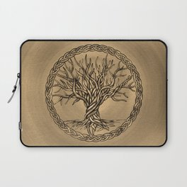 Tree of life -Yggdrasil -Sepia Canvas Laptop Sleeve