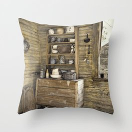 Old kitchen in Louisiana Throw Pillow
