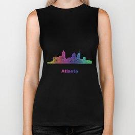 Rainbow Atlanta skyline Biker Tank