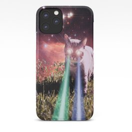 Mega Space Cat Rising iPhone Case