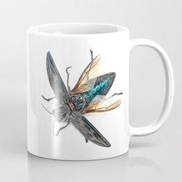 Sculpted Pine Borer (Chalcophora angulicollis) Coffee Mug