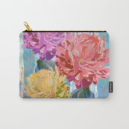 Trio of Peonies - Summer Pastels Carry-All Pouch