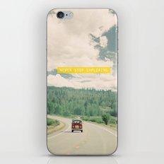 NEVER STOP EXPLORING - vintage volkswagen van iPhone & iPod Skin