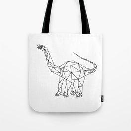 Prehistoric Geometric Dinosaur Tote Bag