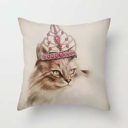 Queen Bonnie Throw Pillow