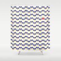 ukraine Shower Curtains featuring I Love Ukraine by Minichka