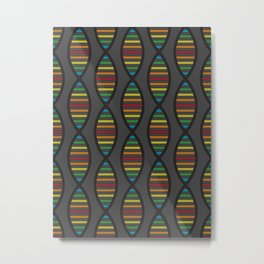 Rainbow DNA Metal Print