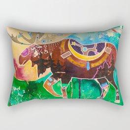 Fantastic Moose - Animal - by LiliFlore Rectangular Pillow