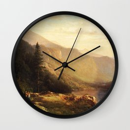 An Artist S View Of Mt Lafayette 1871 By Thomas Hill | Reproduction Wall Clock