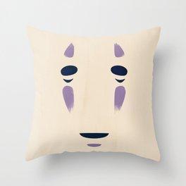 Spirited Away - No Face Minimalist, Miyazaki, Studio Ghibli Throw Pillow