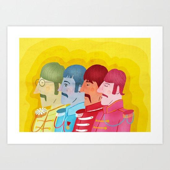 John, Paul George and Ringo Art Print