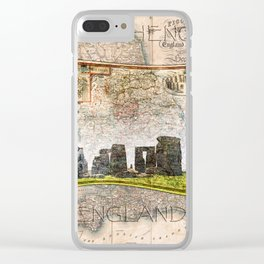 Stonehenge Art Map Clear iPhone Case