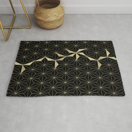 Gold Flower Geo Glam #1 #geometric #decor #art #society6 Rug