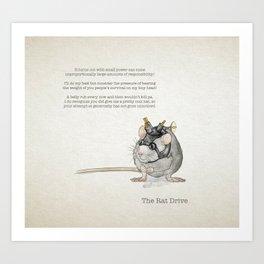 the Rat Drive Art Print