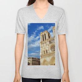 Cathedrale Notre-Dame de Paris Unisex V-Neck