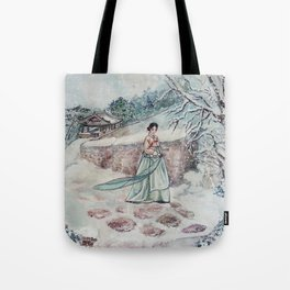 Korean Winter (Watercolor painting) Tote Bag