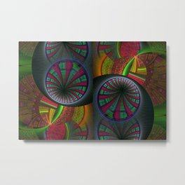 Tunneling Abstract Fractal Metal Print