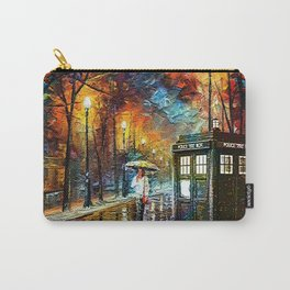 Tardis And Umbrella girl Carry-All Pouch
