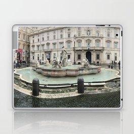 3 legged man in Piazza Navona Rome Italy Laptop & iPad Skin