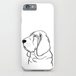 Bloodhound (Black and White) iPhone Case