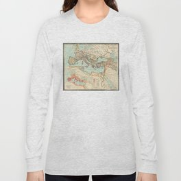 Vintage Map of The Roman Empire (1889) Long Sleeve T-shirt