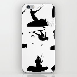 Wakeboarder Silhouette Collage iPhone Skin