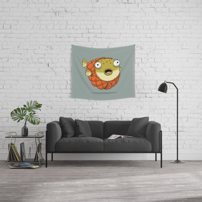 Puffer fish Wall Tapestry