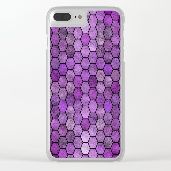 Glitter Tiles ১ Clear iPhone Case
