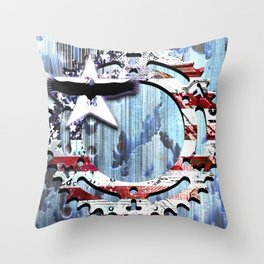 blue steel USA Throw Pillow