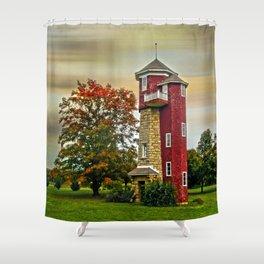 Autumn Water Tower Shower Curtain