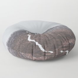 Clear path - Landscape and Nature Photography Floor Pillow