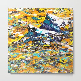 Mountain Art - Abstract Art Metal Print