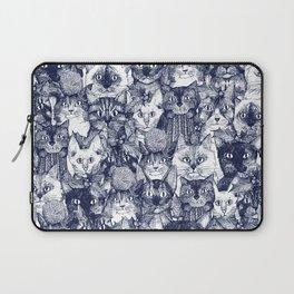 CHRISTMAS CATS blue Laptop Sleeve