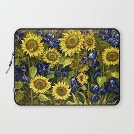 Sunflowers & Blue Irises by Vincent van Gogh Laptop Sleeve
